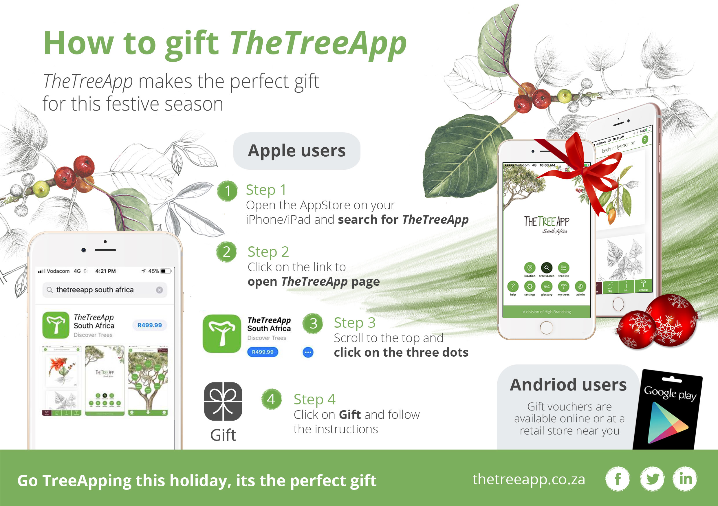 How to Gift TheTreeApp